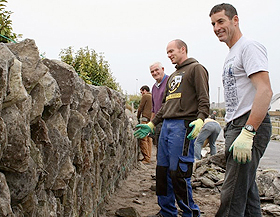 traditional wall building workshops inis oirr
